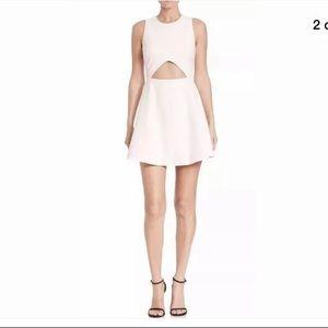 Elizabeth & James Abella White cutout Dress 8 NWT